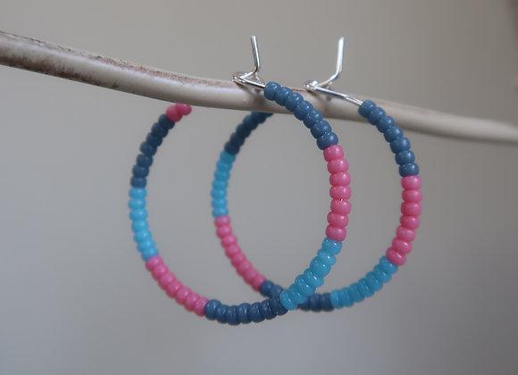 Pink/Blue (Medium Hoop)