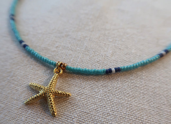 Gold Starfish - Blue