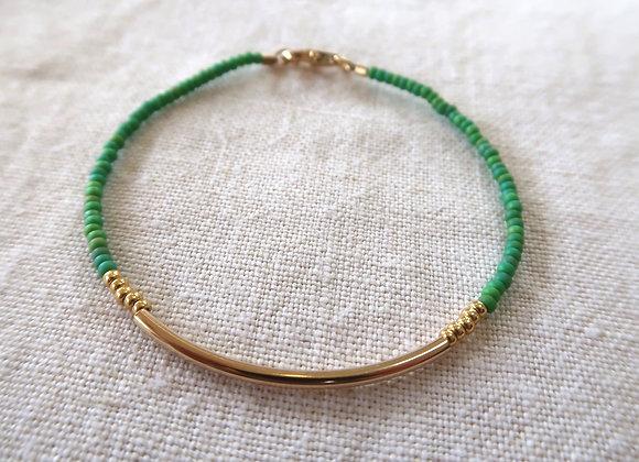 Gold Filled bar - Green