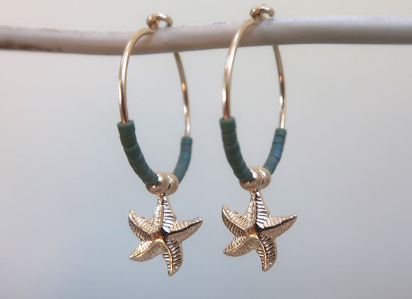 Gold Filled Khaki Starfish
