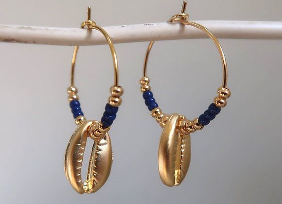 Navy Shells (Small hoop)