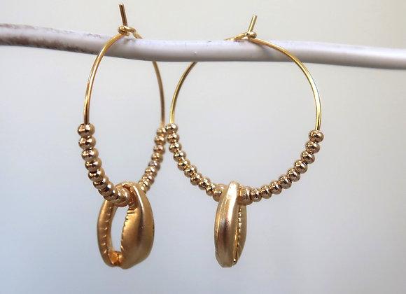 Gold Shells (Medium hoop)