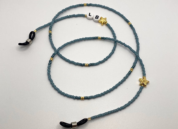 Blue Personalised Sunglasses Chain