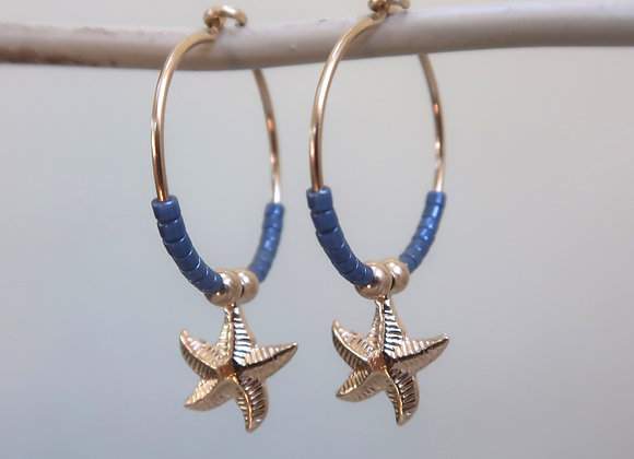 Gold Filled Blue Starfish