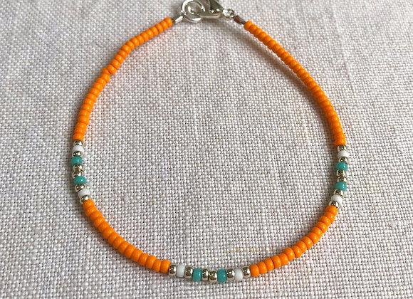 Orange, Turquoise & Silver