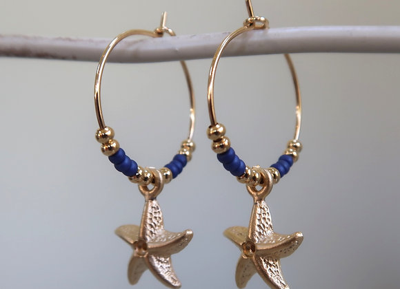 Navy Starfish (Small hoop)