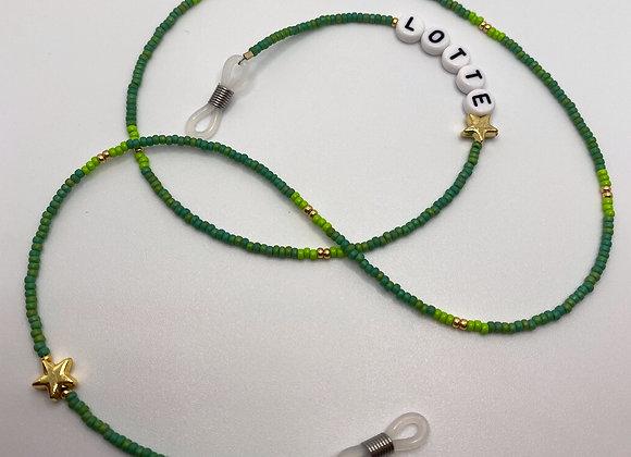 Green Personalised Sunglasses Chain