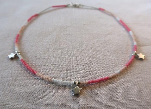 3 Stars Silver - Pink