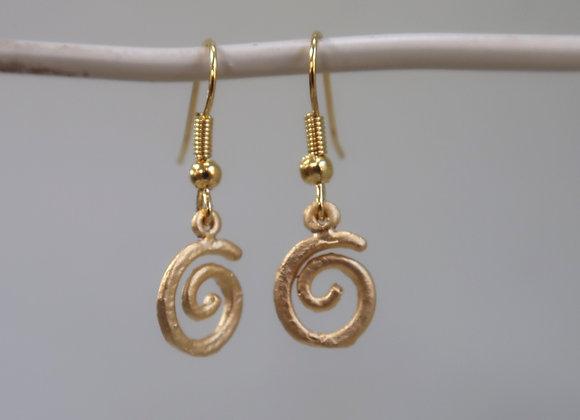 Gold Spiral drops