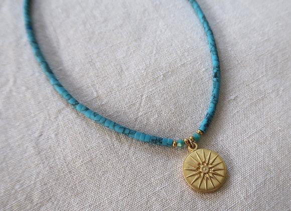 Blue Sundial Necklace