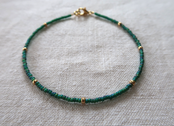 Emerald - Gold Filled