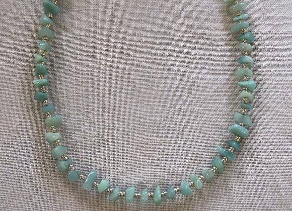 Turquoise Amazonite Crystal Necklace