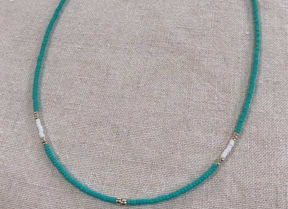 Turquoise, White & Silver