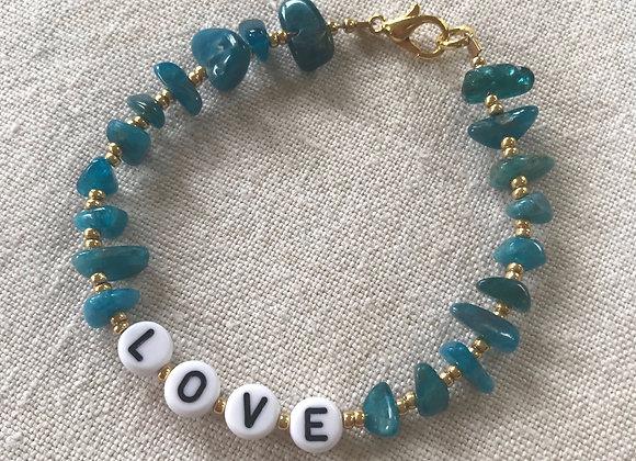 Personalised Teal Blue Apatite