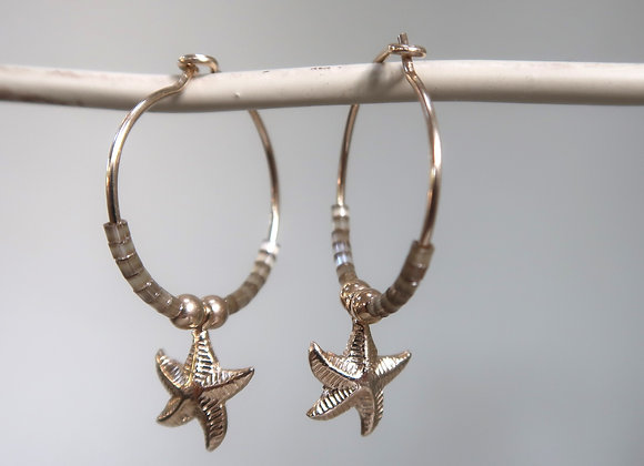Gold Filled Taupe Starfish