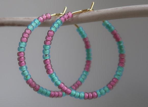 Pink & Turquoise (Medium)