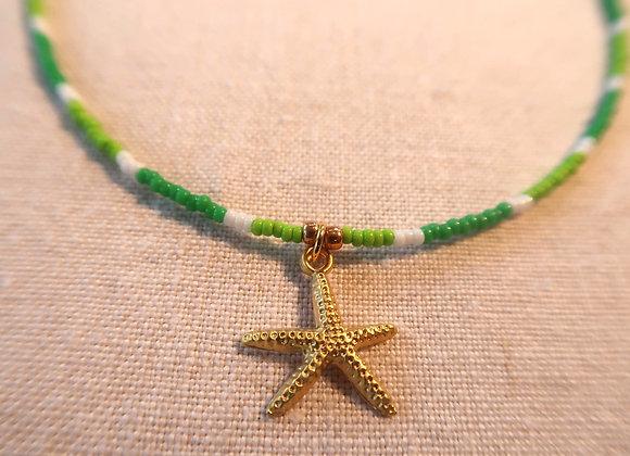 Gold Starfish - Green