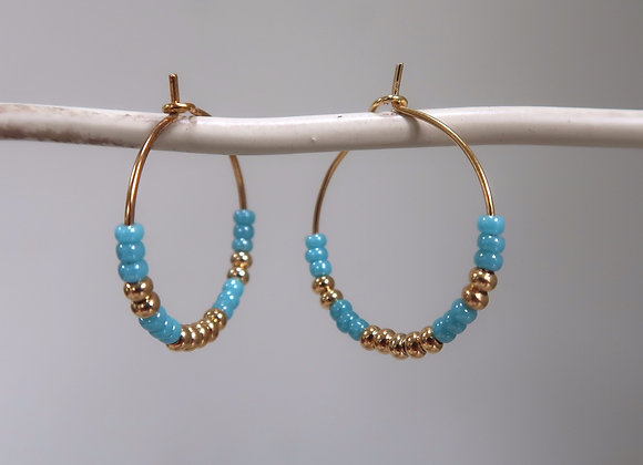 Gold & Blue Turquoise