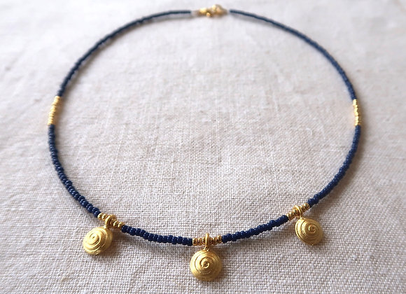 3 Gold Coins - Navy