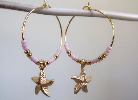 Osyer Pink Starfish (Medium hoop)