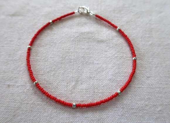 Red - Sterling Silver