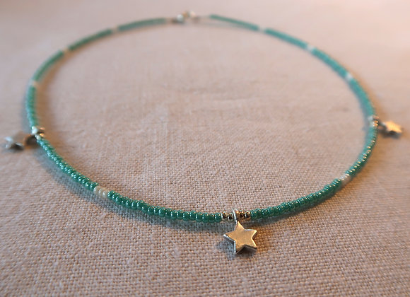 3 Stars Silver - Turquoise