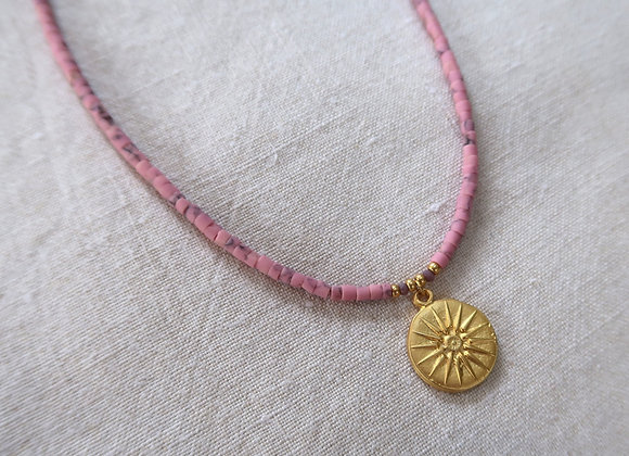 Pink Sundial Necklace