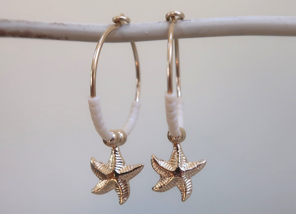 Gold Filled Ivory Starfish