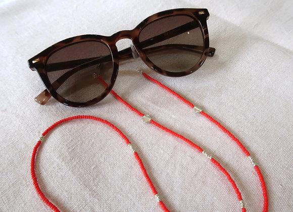Red Silver Coin Sunglasses Chain