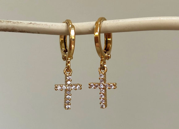 Gold Cross Huggies