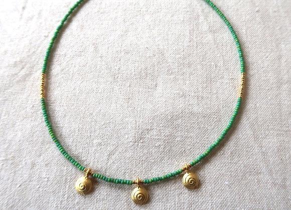 3 Gold Coins - Green