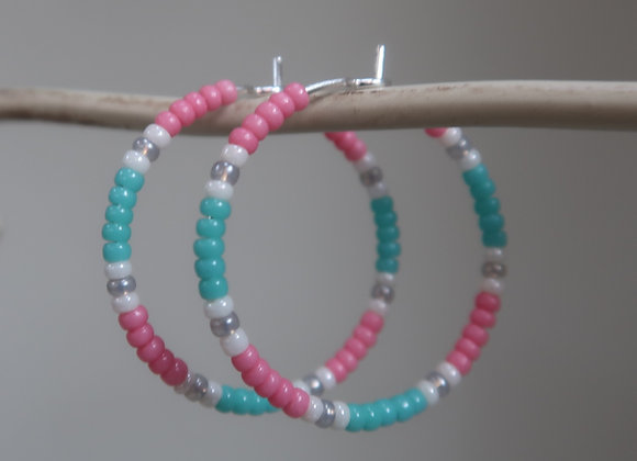 Pink/Turquoise/Silver