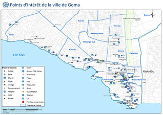 Map of Goma DRC