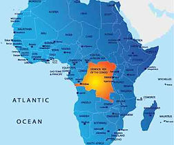 Map of Africa showing DRC