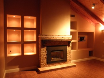 Basement & Fireplace