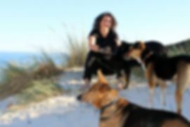 Nicola Zaina and dogs