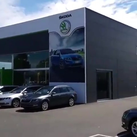 Commercial Signage Cleaning at Skoda.mp4