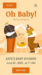 Eventer website templates – Baby Shower
