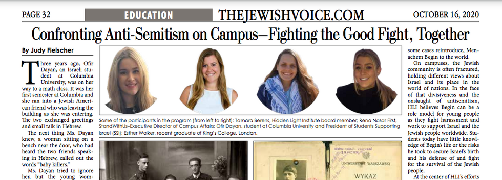 Confronting Anti-SEmitism on Campus - Fighting the Good Fight, Together