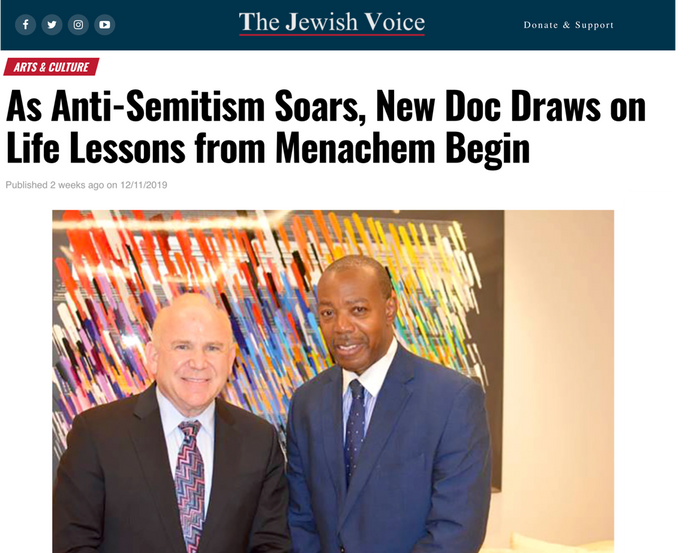 As Anti-Semitism Soars, New Doc Draws on Life Lessons from Menachem Begin  The Jewish Voice December 11, 2019