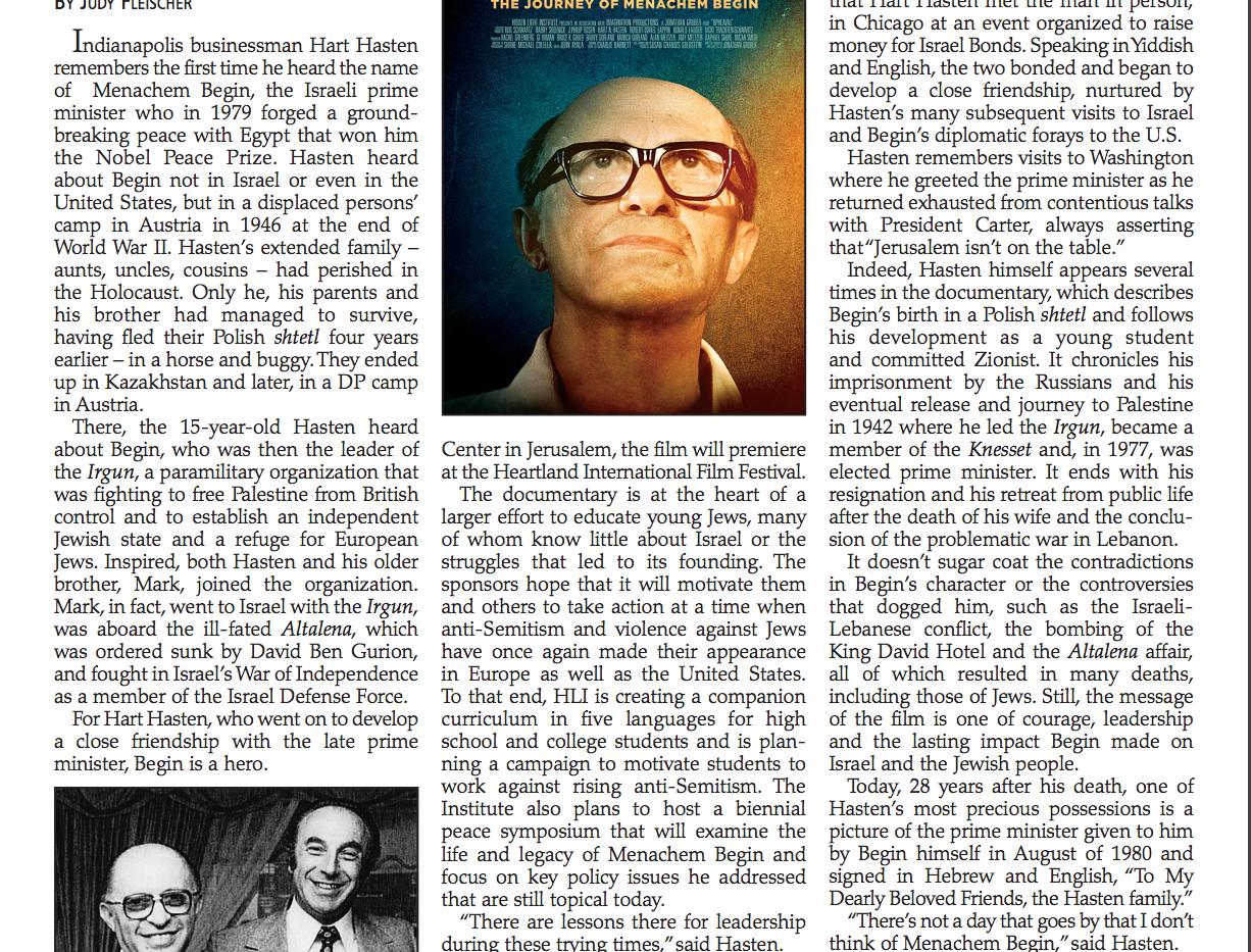 Menachem Begin - Hero, Mentor, Role Model and Close Friend