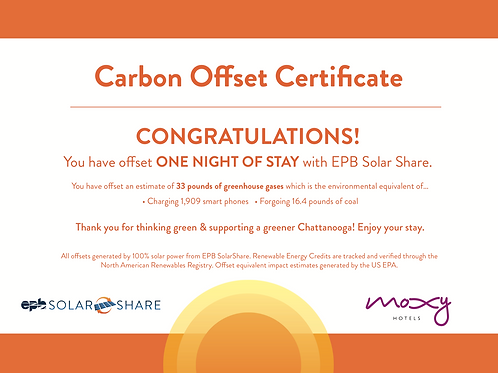 SolarShare Room Offset - 1 Night