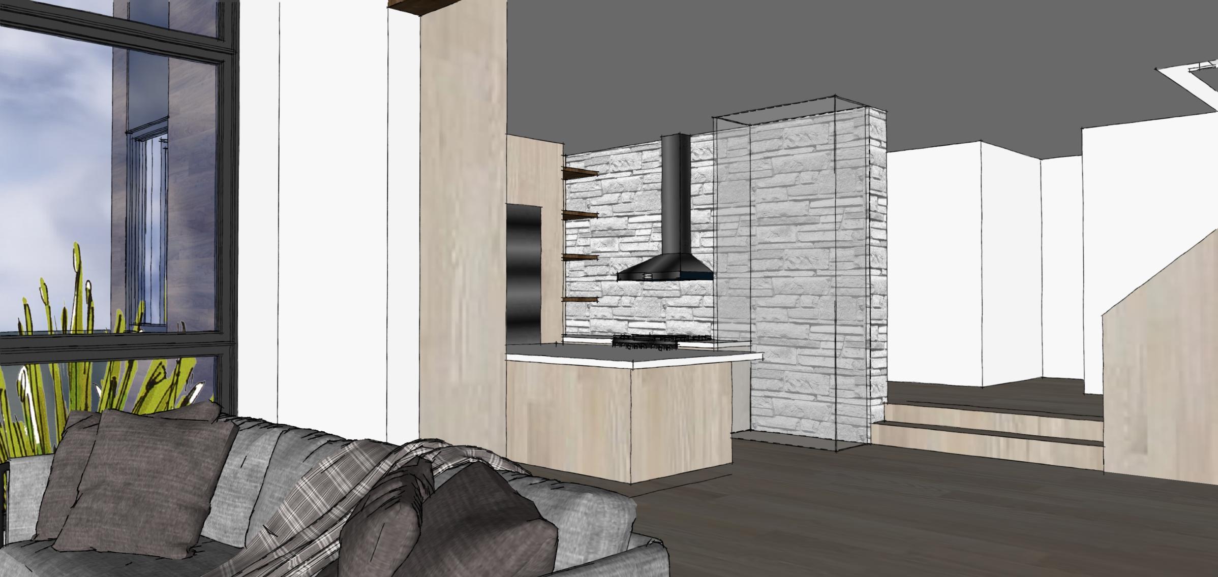 Nouvelle résidence_Esquisses