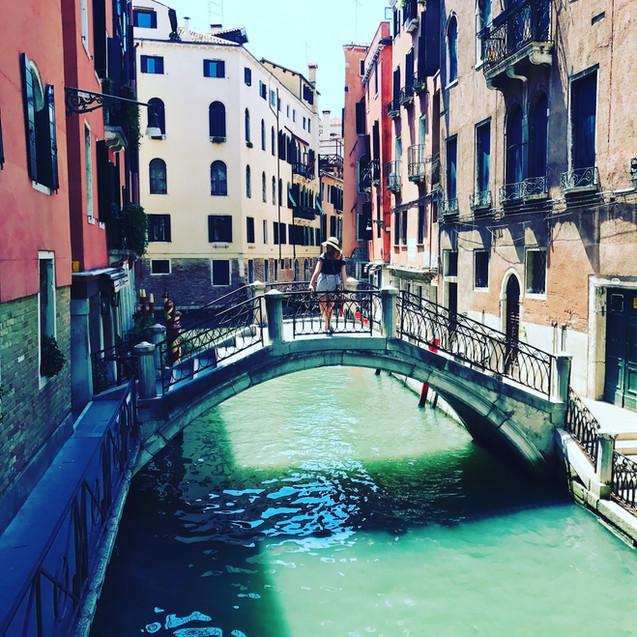 On a bridge in Venice