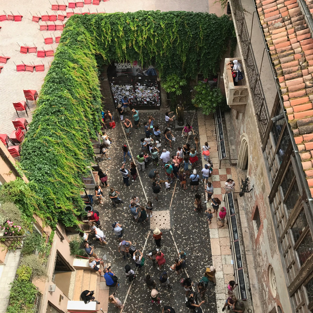 View from Romeo and Juliet's balcony