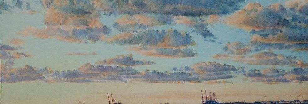 """Marée basse """"Le port du Havre"""""""