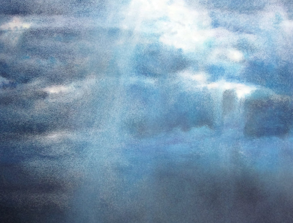 """Ciel d'orage """"La plage du Butin HONFLEUR"""""""