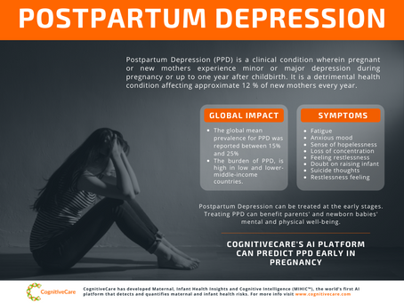 Postpartum Depression: Early Symptoms, Treatment, Global Impact and Early Detection [Infographic]