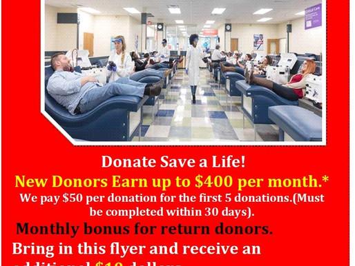 CSL Plasma Donations
