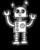 blue robot hands raised